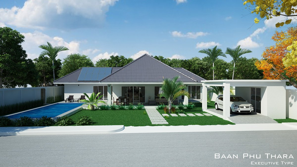 Executive villa is a three bedroom design with all bedrooms having en suite facilities this villa has a living area of 203 sqm all bedrooms enjoy access